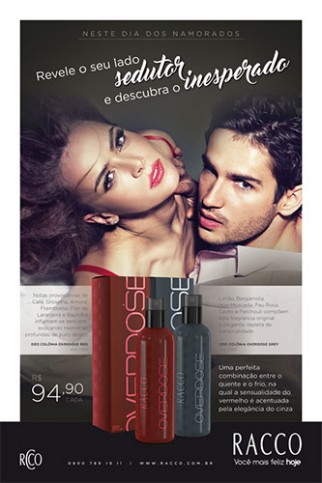 Deo Colônia Overdose RED // GREY